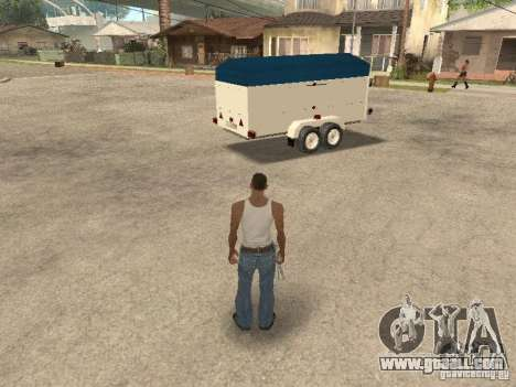 Trailer for Ford Transit 2007 for GTA San Andreas left view