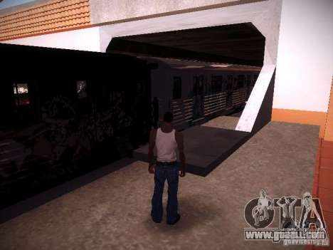 The train from GTA IV for GTA San Andreas back left view