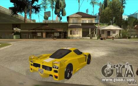 Ferrari FXX 2005 for GTA San Andreas back view