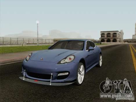 Porsche Panamera Turbo 2010 for GTA San Andreas inner view