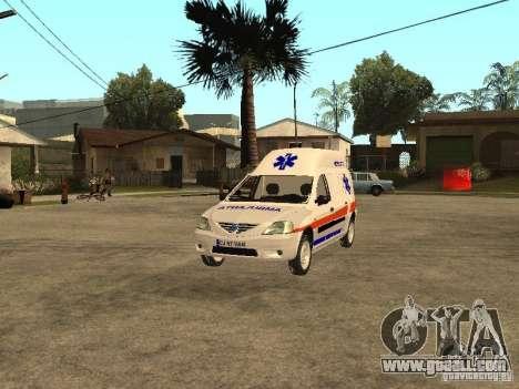 Dacia Logan Ambulanta for GTA San Andreas side view