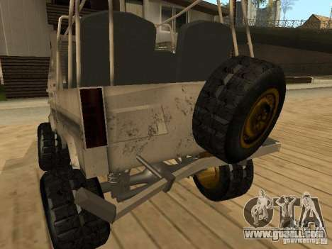 Luaz 969 Offroad for GTA San Andreas bottom view