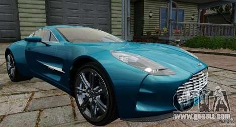 Aston Martin One-77 2012 for GTA 4
