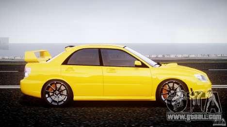 Subaru Impreza STI for GTA 4 inner view