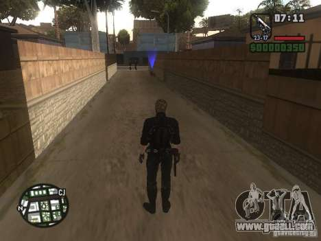Wesker from RE5 for GTA San Andreas fifth screenshot