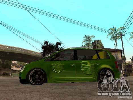 Volkswagen Touran The Hulk for GTA San Andreas left view