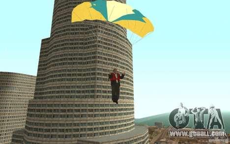 Global fashion parachute for GTA San Andreas fifth screenshot