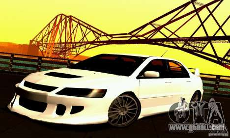Mitsubishi Lancer Evo VII for GTA San Andreas back view