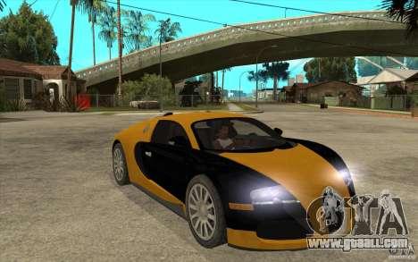 Bugatti Veyron v1.0 for GTA San Andreas back view
