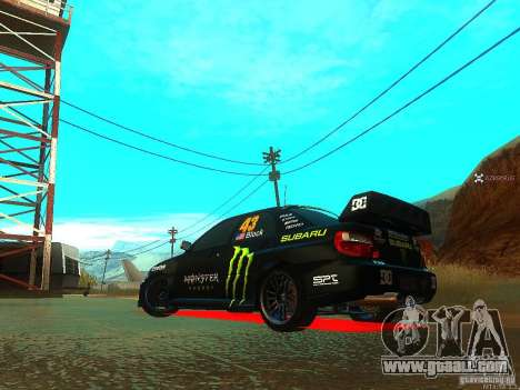 Subaru Impreza Gymkhana Practice for GTA San Andreas back left view