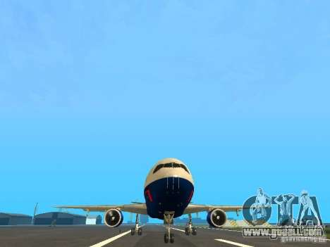 McDonell Douglas DC10 British Airways for GTA San Andreas back view