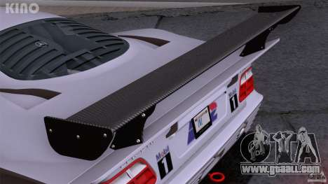 Mercedes-Benz CLK GTR Road Carbon Spoiler for GTA San Andreas bottom view