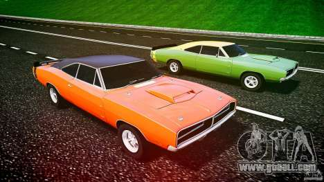 Dodge Charger RT 1969 tun v1.1 for GTA 4 bottom view