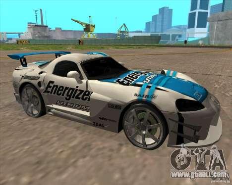 Dodge Viper Energizer for GTA San Andreas left view