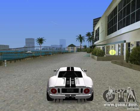 Ford GT for GTA Vice City back left view