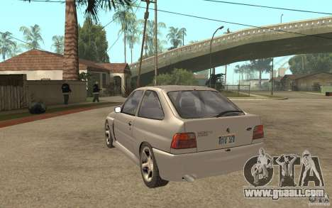 Ford Escort RS Cosworth 1992 for GTA San Andreas back left view