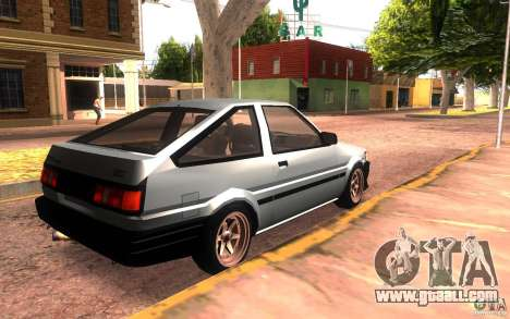Toyota Corolla Levin GTV 3-door (AE86) for GTA San Andreas back left view