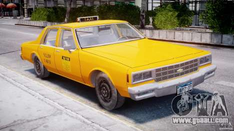 Chevrolet Impala Taxi 1983 for GTA 4 left view