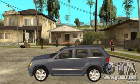 Jeep Grand Cherokee SRT8 v2.0 for GTA San Andreas left view