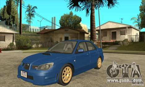 Subaru Impreza WRX STI 2006 for GTA San Andreas left view