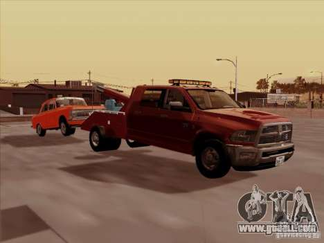 Dodge Ram 3500 TowTruck 2010 for GTA San Andreas back left view