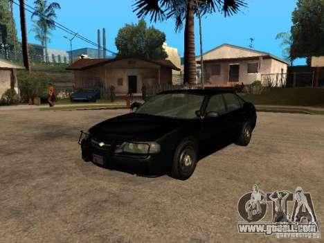 Chevrolet Impala Undercover for GTA San Andreas