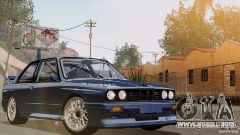 BMW M3 E30 for GTA San Andreas upper view