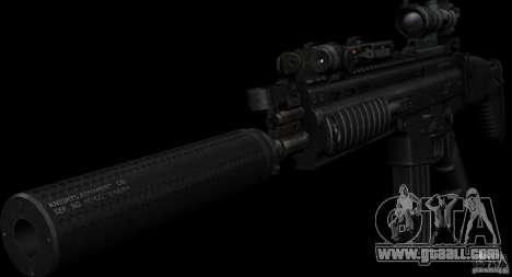 SCAR-L black for GTA San Andreas second screenshot