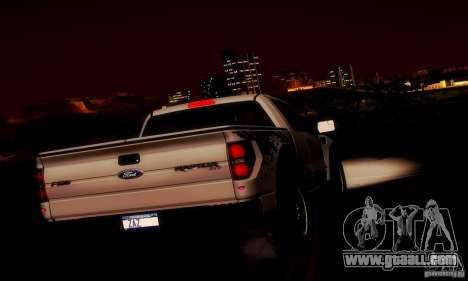 Ford F-150 SVT Raptor V1.0 for GTA San Andreas interior
