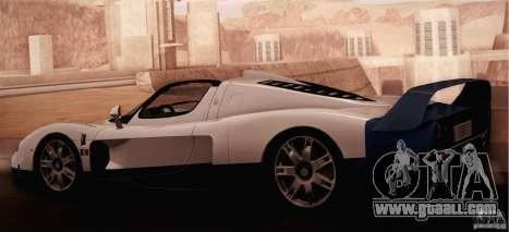 Maserati MC12 V1.0 for GTA San Andreas inner view