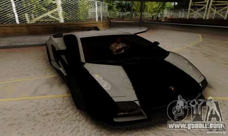 Lamborghini Gallardo for GTA San Andreas back view