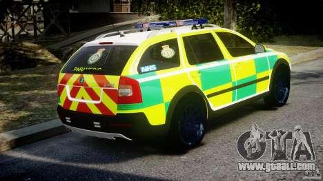 Skoda Octavia Scout Paramedic [ELS] for GTA 4 inner view