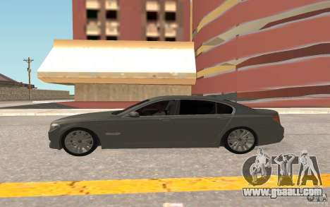 BMW 730d for GTA San Andreas back view