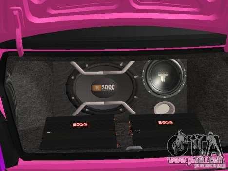 Lada Priora Emo for GTA San Andreas interior