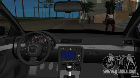 Audi RS4 for GTA Vice City inner view