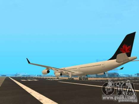 Airbus A340-300 Air Canada for GTA San Andreas back left view