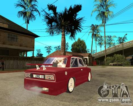 Vaz 2106 Lord for GTA San Andreas back left view