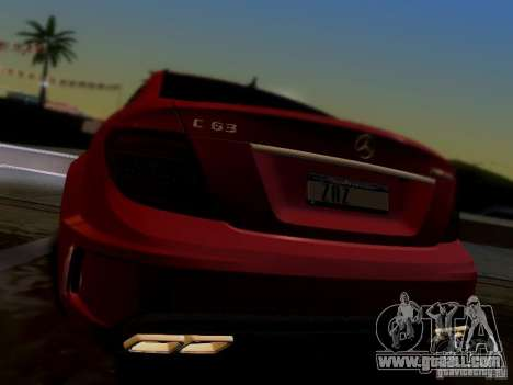 Mercedes Benz C63 AMG C204 Black Series V1.0 for GTA San Andreas back view