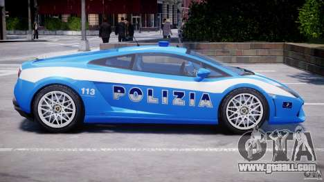 Lamborghini Gallardo LP560-4 Polizia for GTA 4 bottom view