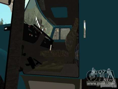 ZIL 133 for GTA San Andreas inner view