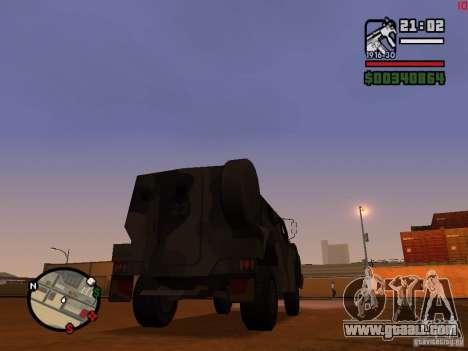 Australian Bushmaster for GTA San Andreas back left view