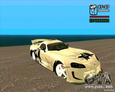 Dodge Viper SRT-10 Coupe for GTA San Andreas back left view