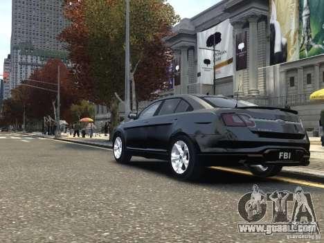 Ford Taurus FBI 2012 for GTA 4 back left view