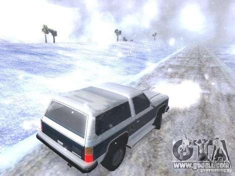 Snow MOD HQ V2.0 for GTA San Andreas eighth screenshot