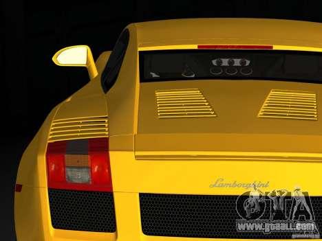 Lamborghini Gallardo for GTA Vice City back left view