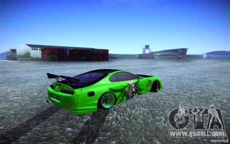 Toyota Supra Tuned for GTA San Andreas back left view