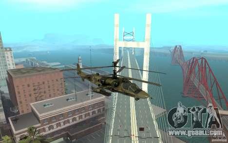 Ka-52 Alligator for GTA San Andreas right view