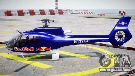 Eurocopter EC130 B4 Red Bull for GTA 4 left view