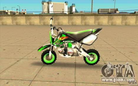 Kawasaki PitBike for GTA San Andreas left view