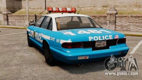 Vapid Police Cruiser ELS for GTA 4 back left view